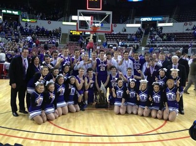 At least one member of the Harrisburg boys basketball team has been accused of using racial slurs during the team's Illinois state title victory -- hb...