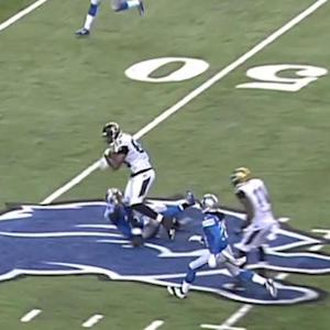 Jacksonville Jaguars quarterback Blake Bortles 30-yard pass down the middle