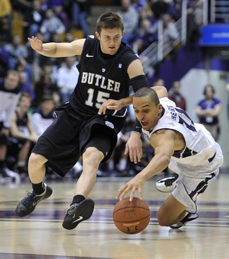Smith scores 24, Butler downs Northwestern 74-65