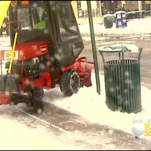 Union County, NJ Snow Plows Work To Keep Up With Snowfall