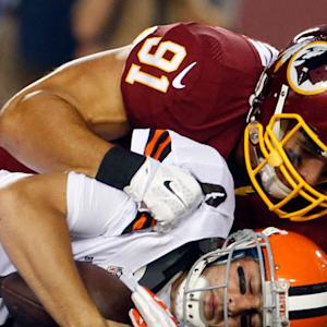 Washington Redskins linebacker Ryan Kerrigan sacks both Cleveland Browns QBs