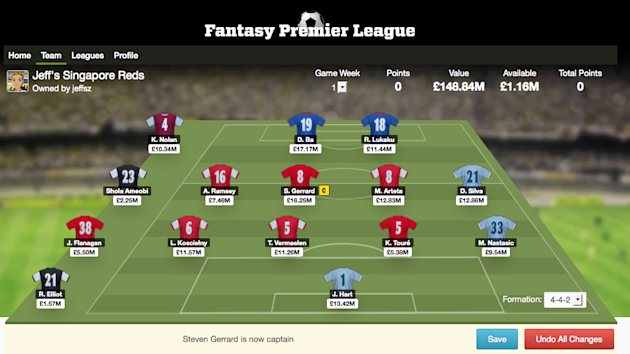 Take on the challenge of managing an EPL team for the new season. (Screengrab from Fantasy Football)