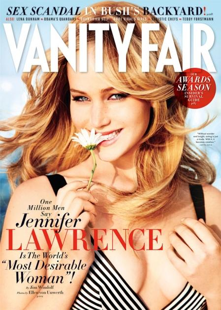 Jennifer Lawrence on the February 2013 issue of Vanity Fair.  -- Vanity Fair
