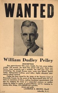 Cartel de busca y captura para el líder de los nazis norteamericanos William Dudley Pelley