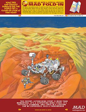 Exclusive: Mars Rover Curiosity Featured in MAD Magazine