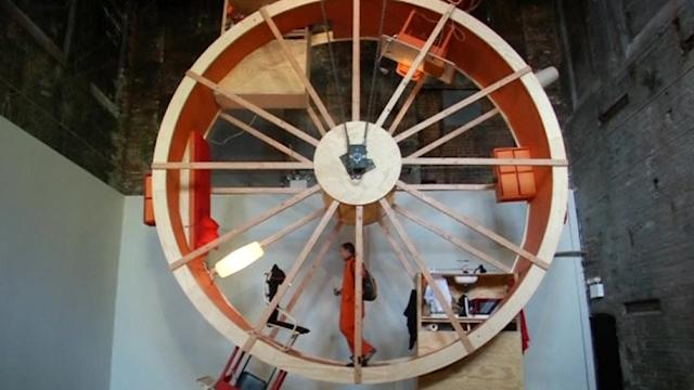 Artists put new spin on life in a hamster wheel