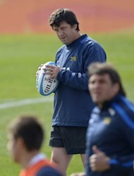 Argentina coach Santiago Phelan, pictured here in August, indicated that with the World Cup-winning All Blacks coach Graham Henry now in the Pumas camp his side is starting to develop the attacking skills that have been lacking in their forward power-game