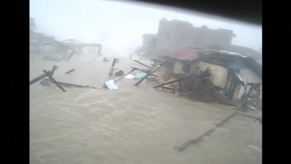Video shows Typhoon Haiyan's storm surge