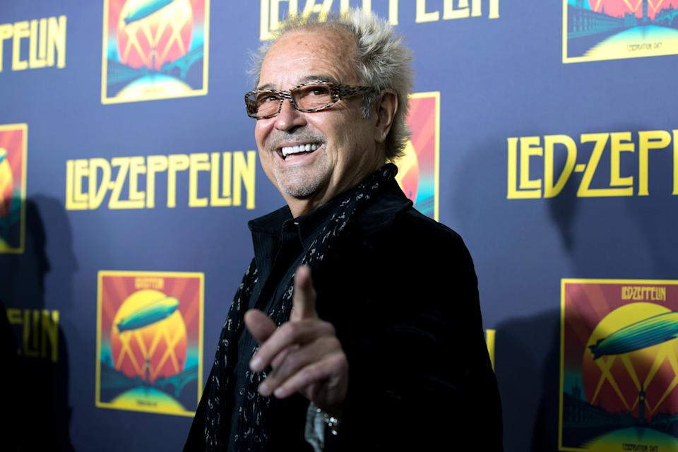 "Mick Jones attends the ""Led Zeppelin: Celebration Day"" premiere at the Ziegfeld Theater on Tuesday, Oct. 9, 2012 in New York. (Photo by Dario Cantatore/Invision/AP)"