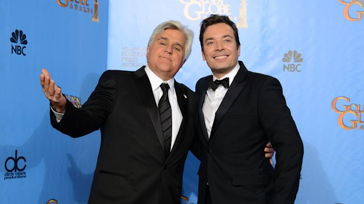 Late-night hosts revel in Leno-Fallon changeover