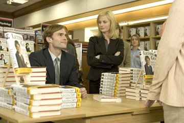Seann William Scott and Amy Poehler in New Line Cinema's Mr. Woodcock