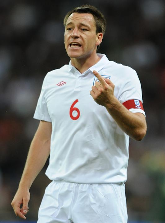 5= - John Terry - 34 caps as captain - Pictured 2010