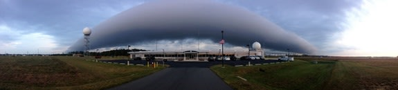 Amazing Roll Cloud Tumbles Over DC Area