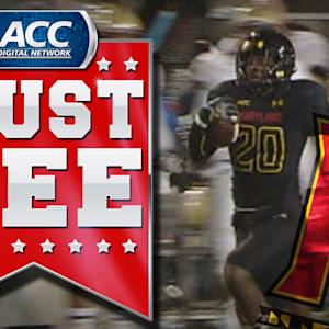 Maryland Returns Blocked PAT to Tie Game | ACC Must See Moment
