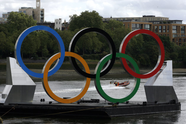 Giant Olympic Rings on The Thames