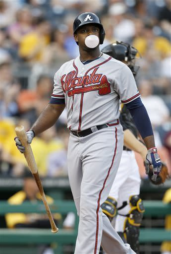 Gattis powers Braves past Pirates 6-4