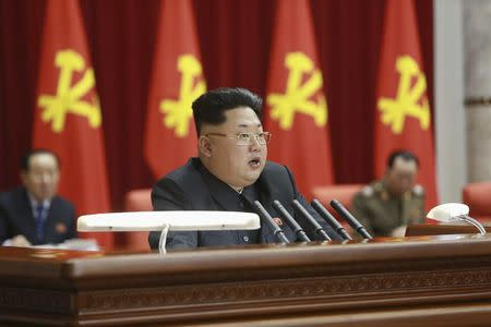 North Korean leader Kim Jong Un supervises an expanded meeting of the Political Bureau of the Central Committee of the Workers' Party of Korea in Pyongyang