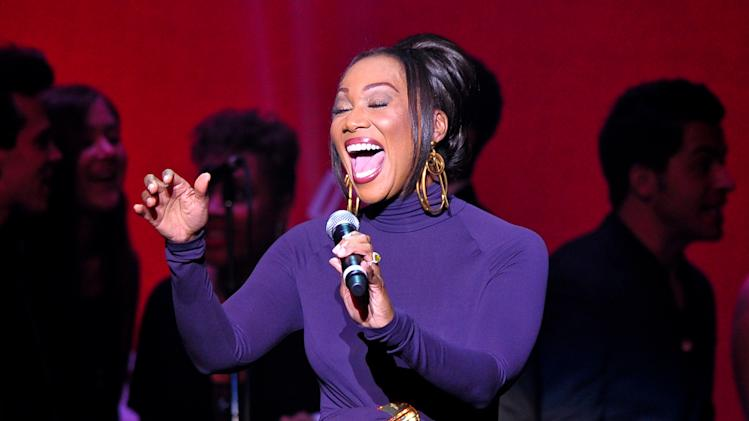 "Singer Yolanda Adams performs at ""Play It Forward: A Celebration of Music's Evolution and Influencers"" at the Grammy Foundation's 15th Annual Music Preservation Project, Thursday, Feb. 7, 2013, in Los Angeles. (Photo by Vince Bucci/Invision/AP)"