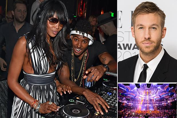 Calvin Harris, Naomi Campbell Tag Team Omnia Grand Opening in Las Vegas (Photos)