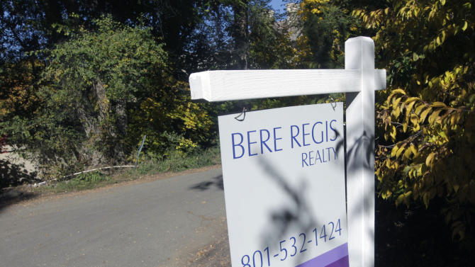 This undated photo shows the real estate sign on street at 2151 East 5340 South in Holladay, Utah. Mitt Romney is building a home at that address. (AP Photo/The Salt Lake Tribune, Al Hartmann) DESERET NEWS OUT; LOCAL TV OUT; MAGS OUT