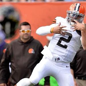 Cleveland Browns trick play to quarterback Johnny Manziel trick play called back