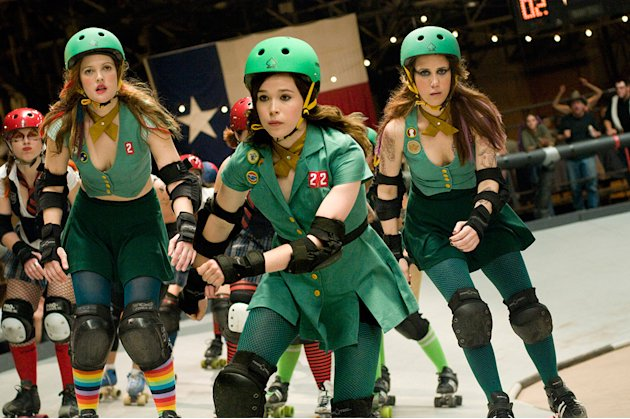 Whip It Production Photos 2009 Fox Searchlight Pictures Ellen Page Drew Barrymore Kristen Wiig