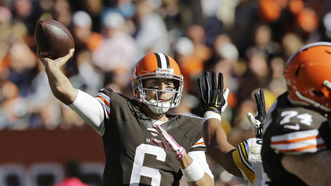 Hoyer leads Browns to 31-10 rout of Steelers