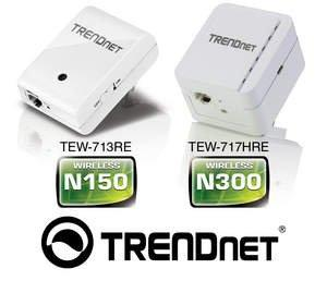 TRENDnet(R) Debuts New Ultra-Compact Wireless Extenders