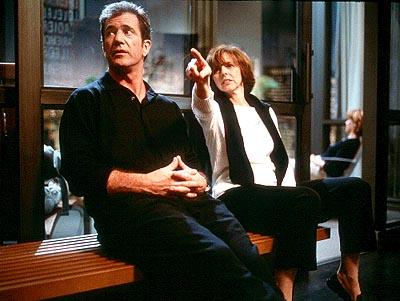 Mel Gibson and director Nancy Meyers on the set of Paramount's What Women Want