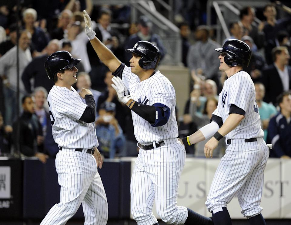 A-Rod sets slam record, Yankees beat Giants 5-1