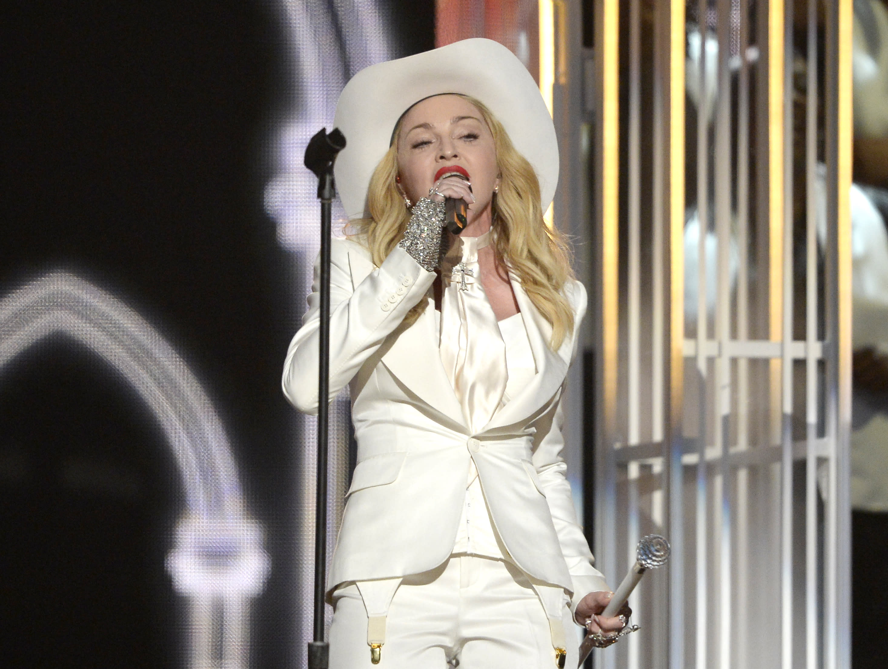Madonna speaks of 'crazy times' after songs leaked
