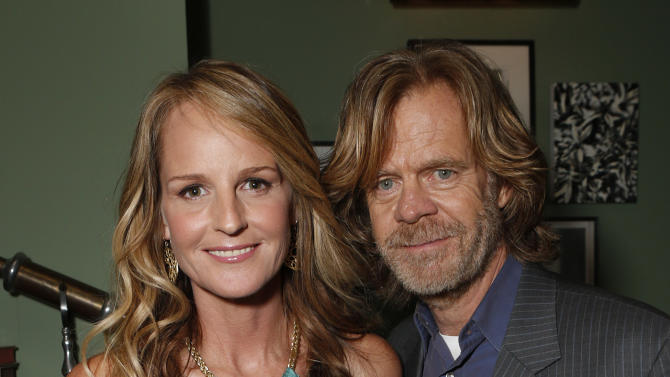 "IMAGE DISTRIBUTED FOR FOX SEARCHLIGHT - Helen Hunt, left, and William H. Macy attend the Grey Goose Vodka party for Fox Searchlight's ""The Sessions"" at Soho House on Sunday Sept 9, 2012, in Toronto. (Photo by Todd Williamson/Invision for Fox Searchlight/AP Images)"