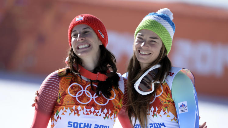 Olympics: Alpine Skiing-Ladies' Downhill