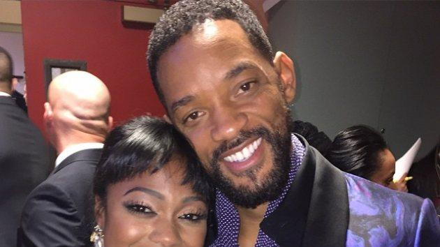 Former 'Fresh Prince of Bel-Air' cast mates Will Smith and Tatyana Ali reunited backstage at the Black Girls Rock! show on March 28, 2015 in Newark, N.J. -- Instagram