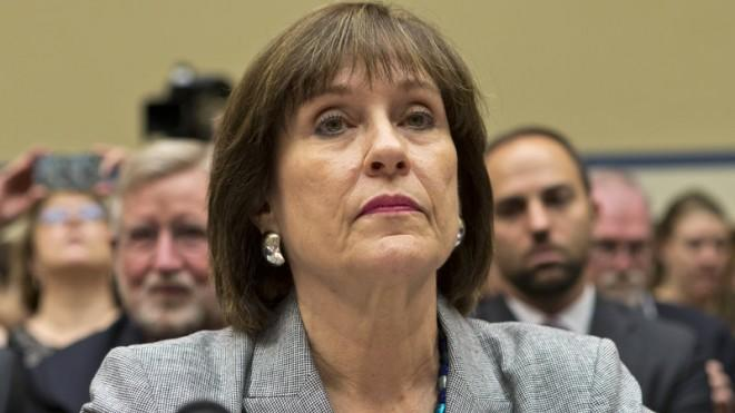 Lois Lerner listens at the start of a House oversight hearing on May 22.