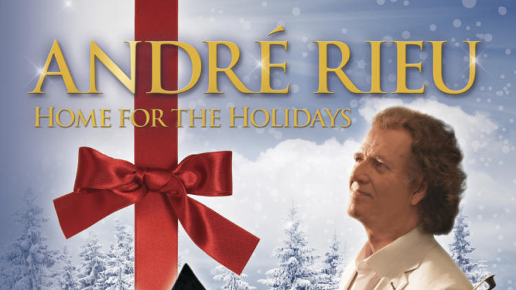 "This CD cover image released by Hip-O Records shows a holiday release by Andre Rieu, ""Home for the Holidays."" (AP Photo/Hip-O Records)"