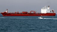 File photo shows oil tanker SC Hong Kong off the port of Bandar Abbas, southern Iran, on July 2. &quot;Iran is ready to give total insurance for the transport of its oil... and the commitments by Iranian insurers are no different from those by Western insurers and therefore all risks and dangers are insured,&quot; Iran&#39;s OPEC representative was quoted as saying by the state-run newspaper IRAN