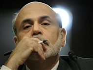 Bernanke gives testimony at a Joint Economic Committee hearing on the economic outlook, on Capitol Hill in Washington