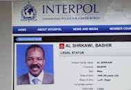 A page of an Interpol website featuring Bashir Al Shrkawi also known as Bashir Saleh, Moamer Kadhafi's former chief of staff and head of Libya's 40 billion dollar sovereign wealth fund. French investigative news website Mediapart published what it said was a copy of an internal Libyan regime document recording an alleged 2006 illegal funding deal between Tripoli and Sarkozy's 2007 campaign