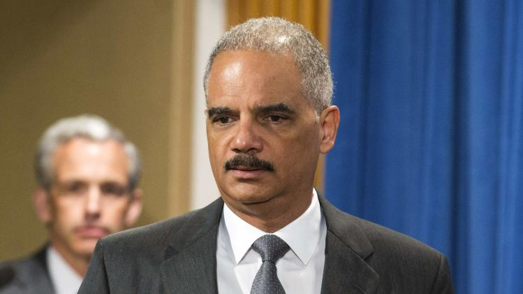 U.S. Attorney General Holder announces Citigroup Inc will pay $7 billion to settle a U.S. government investigation into mortgage-backed securities the bank sold in the run-up to the 2008 financial crisis, during a news conference in Washington