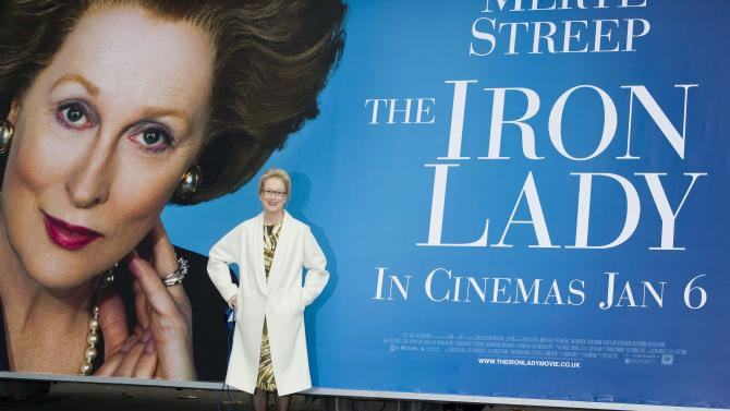 U.S actress Meryl Streep attends a photocall for 'The Iron Lady' poster unveiling at a central London venue, Monday, Nov. 14, 2011. (AP Photo/Jonathan Short)