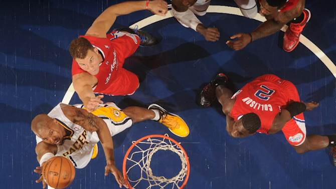 Pacers' West fined for elbowing Blake Griffin