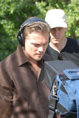 Leonardo DiCaprio on the set of Warner Independent's The 11th Hour