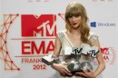  Swift, Bieber win three apiece at MTV Europe awards