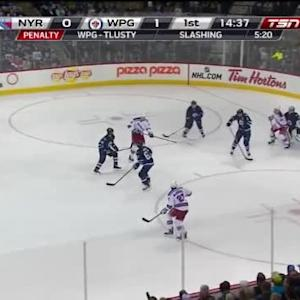 Ondrej Pavelec Save on Keith Yandle (05:24/1st)