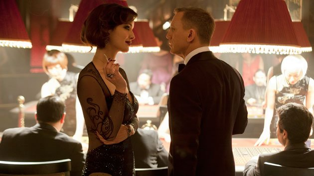 Berenice Marlohe and Daniel Craig in 'Skyfall' (Photo: MGM/Columbia Pictures)