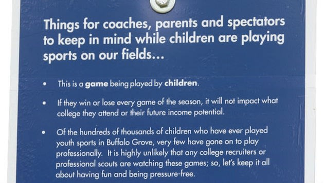 These signs are now on display at Buffalo Gap fields to warn parents — Buffalo Gap Parks Department