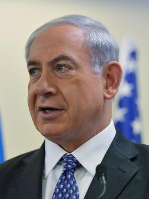 Israeli Prime Minister Netanyahu speaks to the media …