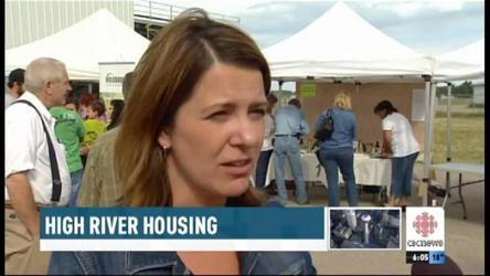 Temporary housing for High River residents