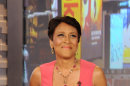 """FILE - This Aug. 20, 2012 file photo released by ABC shows co-host Robin Roberts during a broadcast of """"Good Morning America,"""" in New York. Roberts has said goodbye to """"Good Morning America,"""" but only for a while. The """"GMA"""" anchor made her final appearance Thursday, Aug. 30, before going on medical leave for a bone marrow transplant. Roberts' departure was first planned for Friday, but she chose to exit a day early to visit her ailing mother in Mississippi. In July she first disclosed that she has MDS, a blood and bone marrow disease. She will be hospitalized next week to prepare for the transplant. The donor will be her older sister, Sally-Ann Roberts, who was on hand for Thursday's emotional send-off. (AP Photo/ABC, Donna Svennevik, file)"""
